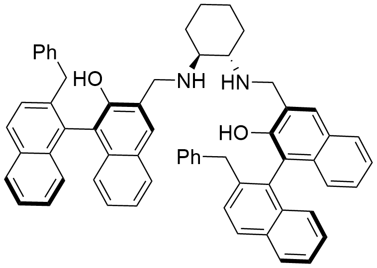 (R)-2'-benzyl-3-((((1S,2S)-2-((((R)-2'-benzyl-2-hydroxy-[1,1'-binaphthalen]-3-yl)methyl)amino)cyclohexyl)amino)methyl)-[1,1'-binaphthalen]-2-ol