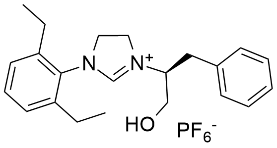 (S)-1-(2,6-diethylphenyl)-3-(1-hydroxy-3-phenylpropan-2-yl)-4,5-dihydro-1H-imidazol-3-ium hexafluorophosphate(V)