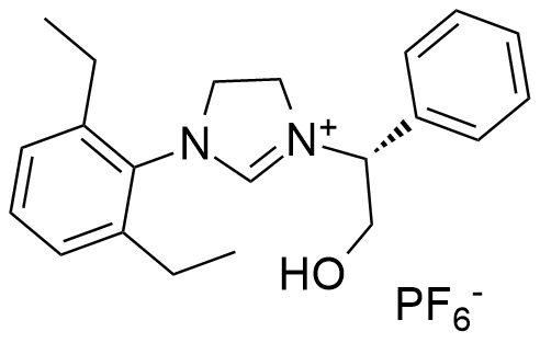 (R)-1-(2,6-diethylphenyl)-3-(2-hydroxy-1-phenylethyl)-4,5-dihydro-1H-imidazol-3-ium
