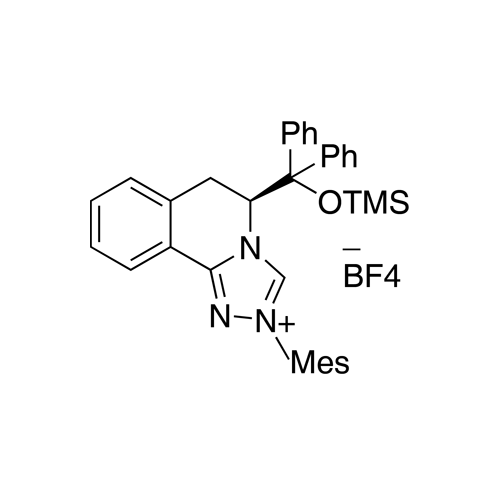 (S)-5-(Diphenyl((trimethylsilyl)oxy)methyl)-2-mesityl-5,6-dihydro-[1,2,4]triazolo[3,4-a]isoquinolin-2-ium Tetrafluoroborate