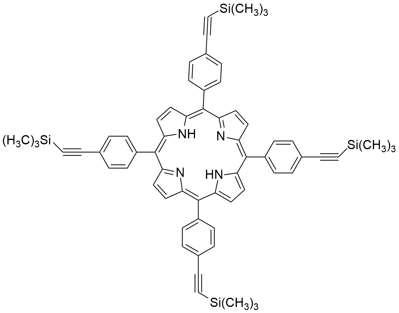 5,10,15,20-Tetrakis[4-[2-(trimethylsilyl)ethynyl]phenyl]-21H,23H-porphine