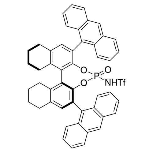 N-​[(11bS)​-​2,​6-​Di-​9-​anthracenyl-​8,​9,​10,​11,​12,​13,​14,​15-​octahydro-​8-​oxidodinaphtho[2,​1-​d:1',​2'-​f]​[1,​3,​2]​dioxaphosphepin-​4-​yl]​-​1,​1,​1-​trifluoromethanesulfonamide